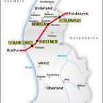Rail map of Liechtenstein