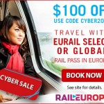 Cyber Monday Deals – Get $100 off Eurail Passes